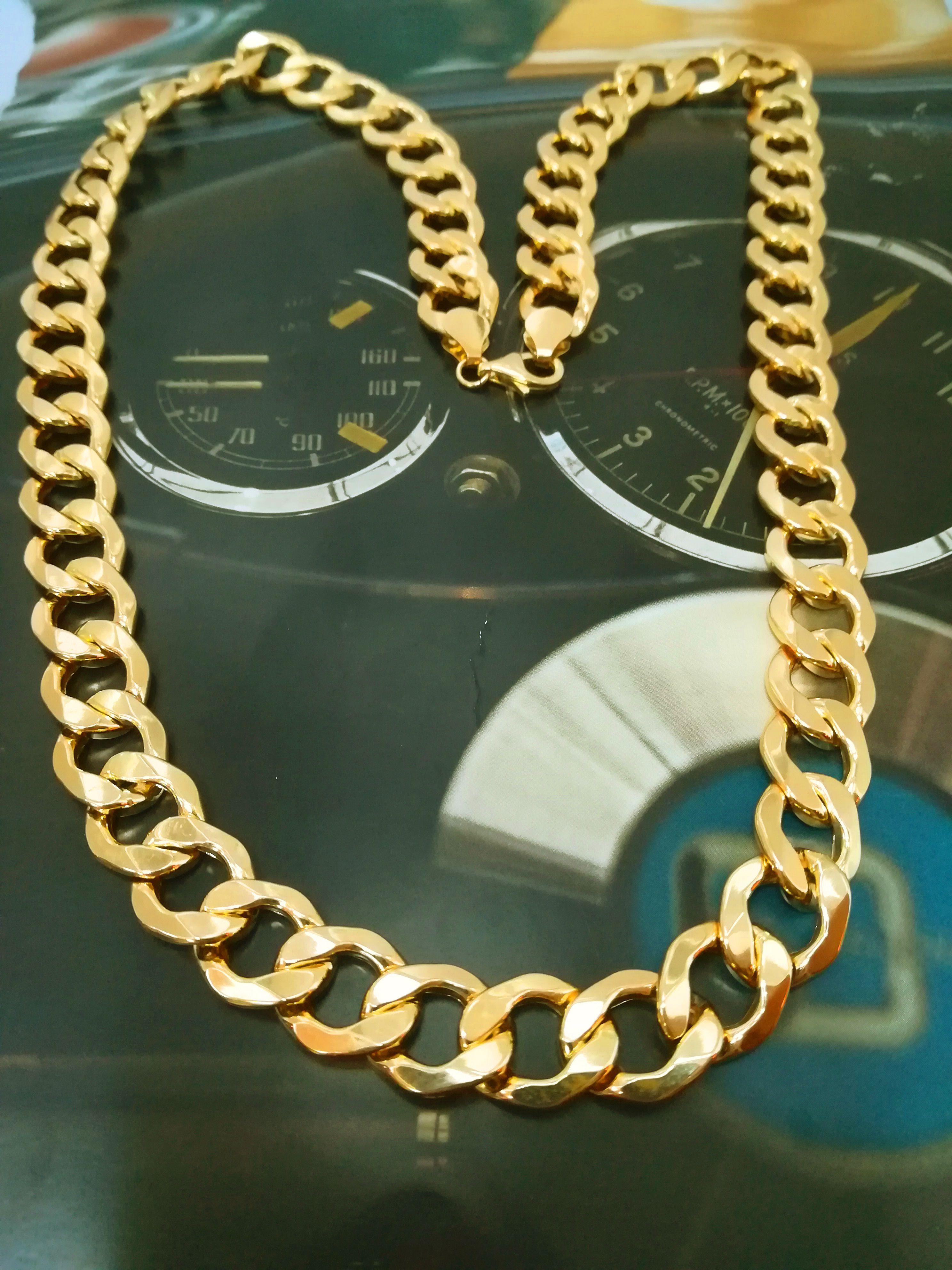 b4a58626ec1d Cadena hueca de oro amarillo de 18 kts