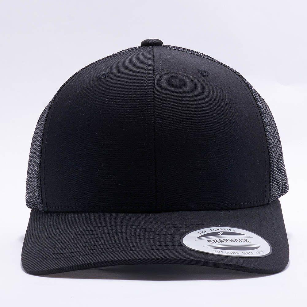 Flexfit/Yupoong 6606 Retro Trucker Hat Wholesale [Black]