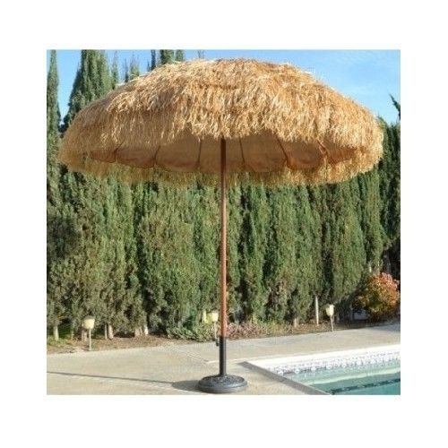 Tiki Hula Umbrella Layered Thatch Grass Hawaiian Style Backyard Bbq Patio  Deck