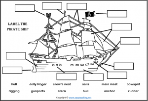 Pirate Worksheets, Activities and Resources • EasyTeaching