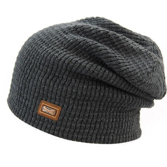 0bc235461e86a The autumn winter knitted hats wholesale pure wool jacket men head cap  acrylic iron standard Korean