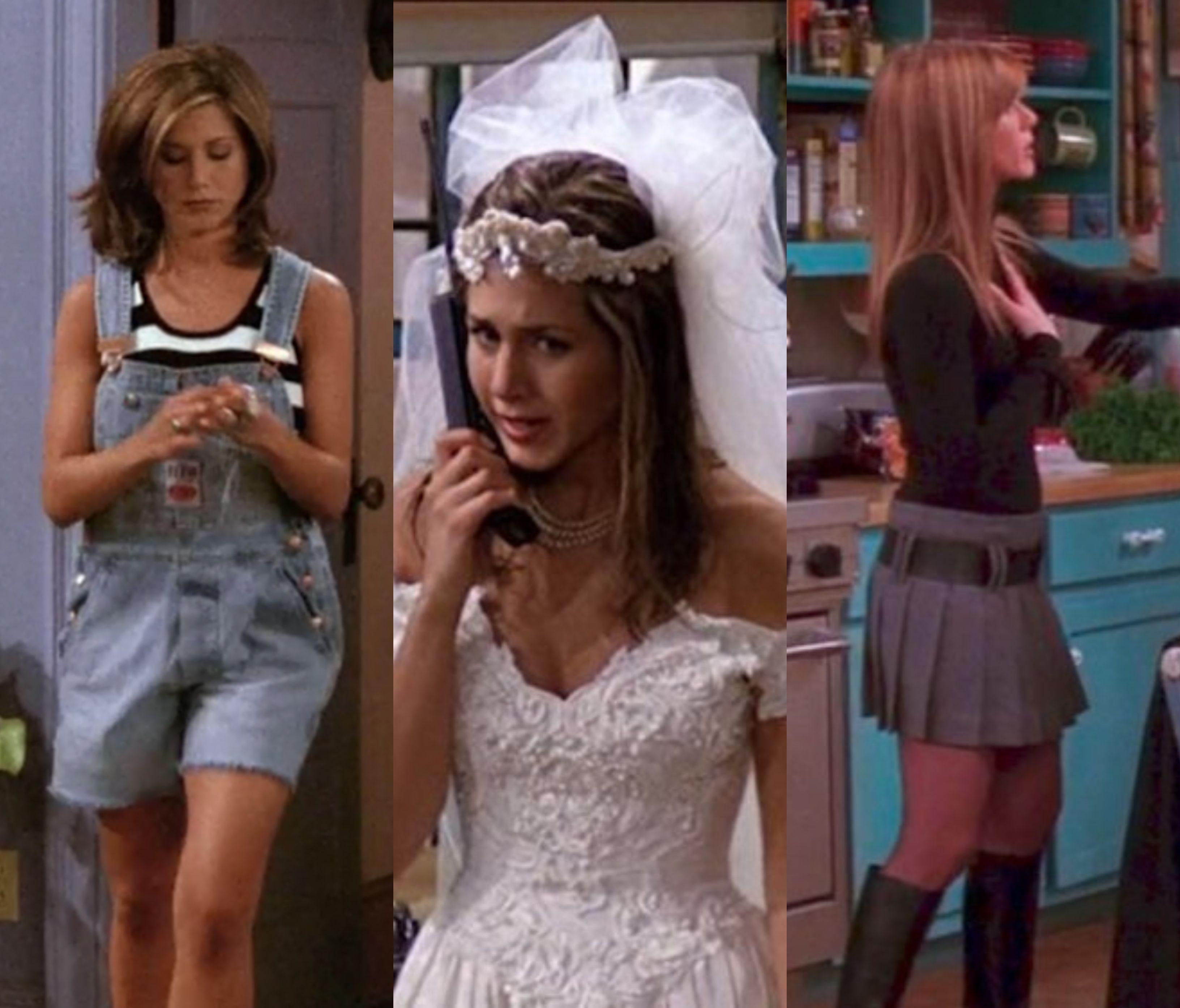 In Honor Of Our Favorite Central Perk Waitress Here Are 15 Of The Best Rachel Green Outfits We D Still Rachel Green Outfits Green Outfit Green Wedding Dresses [ 2789 x 3264 Pixel ]