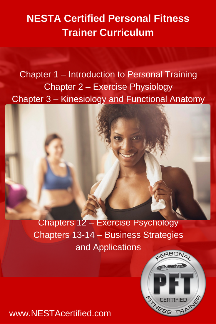 nesta certified personal fitness trainer curriculum nesta personal rh pinterest co uk ACSM Personal Training Ace Personal Training Practice Test