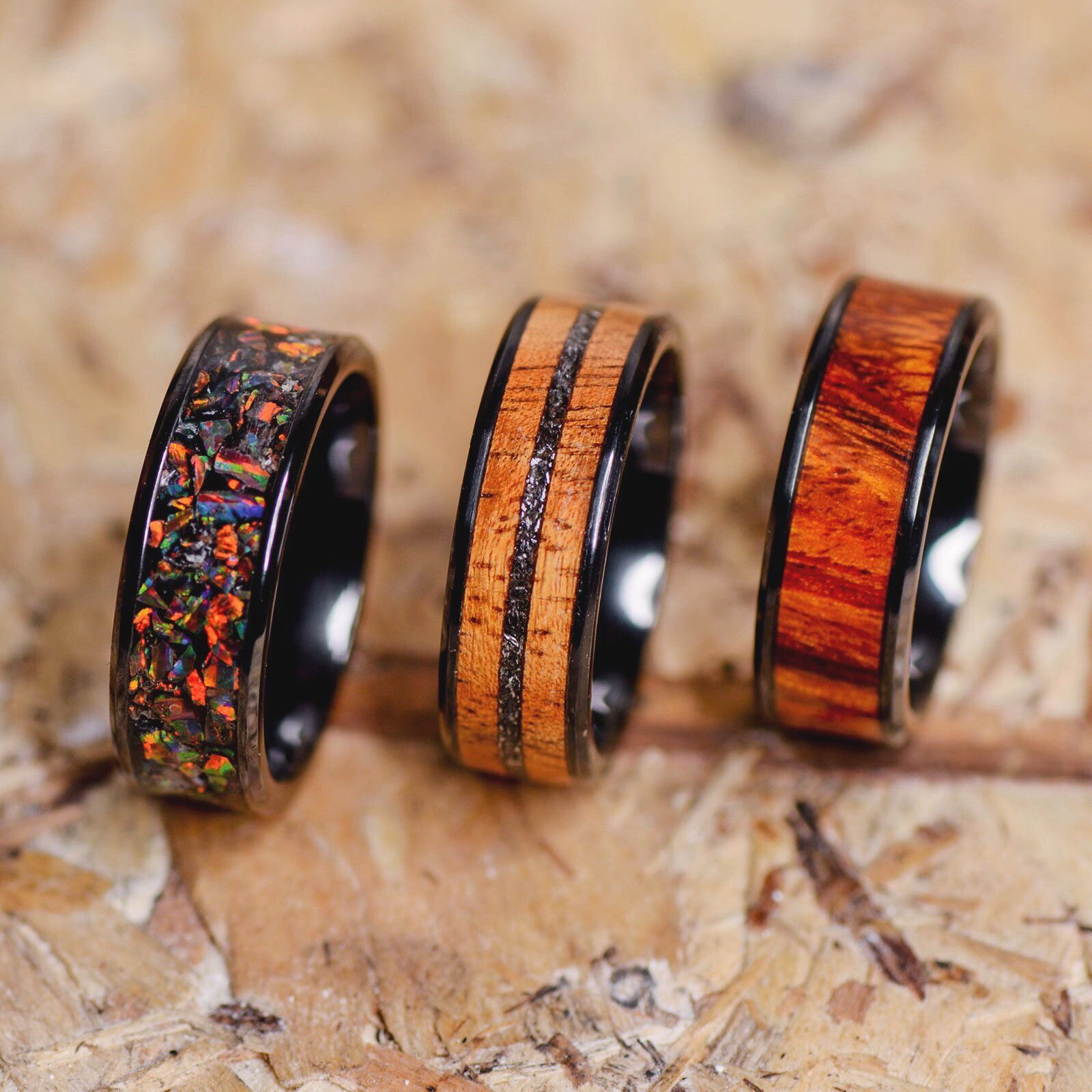 Jack Daniels Barrel Wood, Meteorite, & Guitar Strings