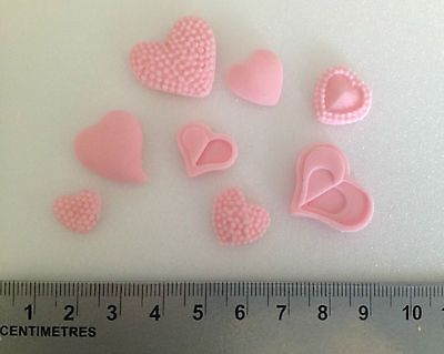 24 x love #hearts pink cake / cupcake #toppers / #decorations edible handmade,  View more on the LINK: http://www.zeppy.io/product/gb/2/182032945434/