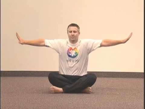 "simple yoga pose chakra 4 asana 5 ""sliding doors"""