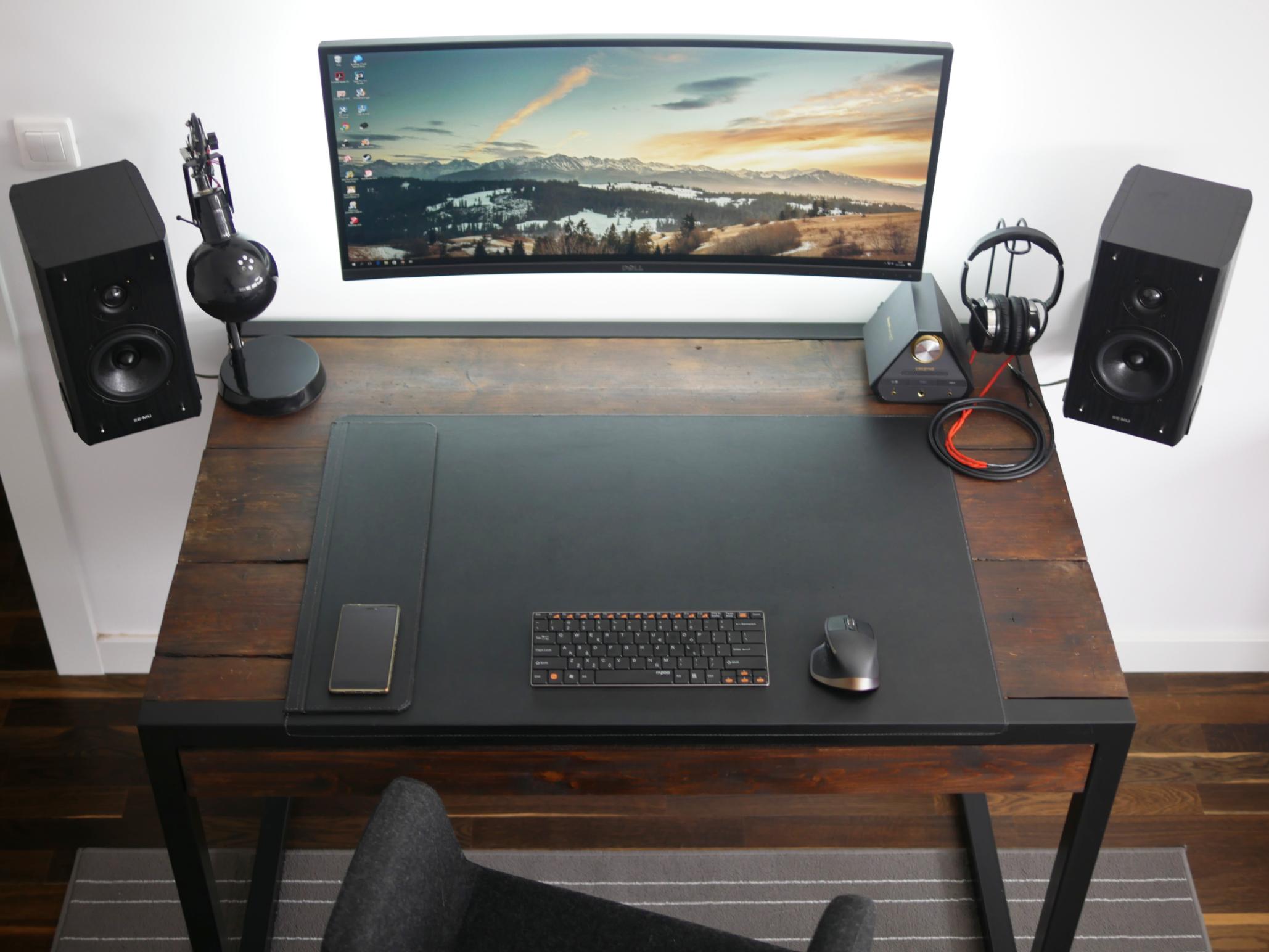 - Wooden Gaming Desk Ideas Computer Desk Setup, Work Space Decor