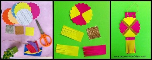 Simple And Easy Diwali Crafts Lantern Aspoonfullofideas Diwali