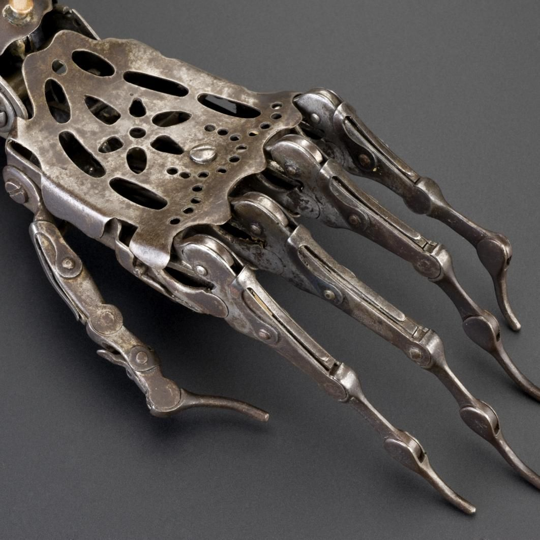 150 Year Old Victorian Prosthetic Hand - Imgur...looks like from the Terminator...