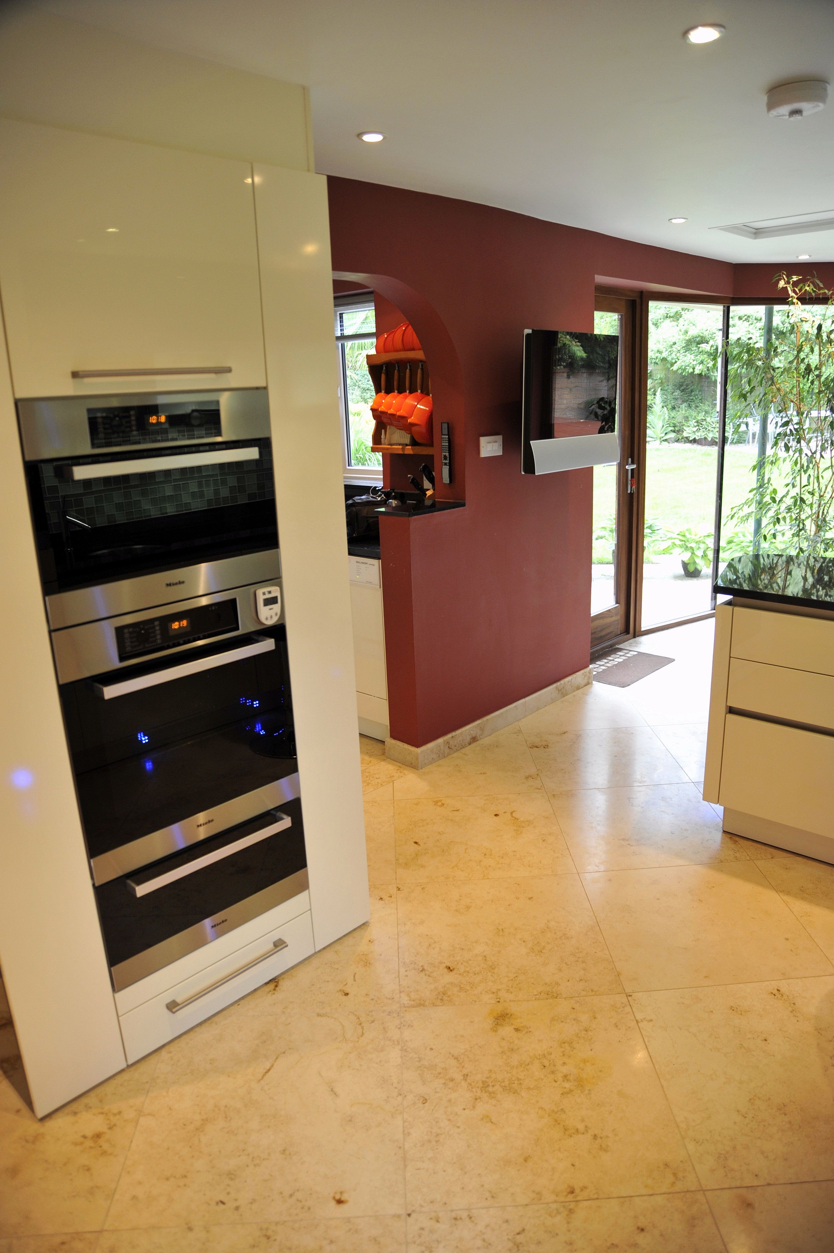 Kitchen Designing Online Fascinating Another Great Shot Of Our Modern Kichen With A Travertine Floor Design Decoration