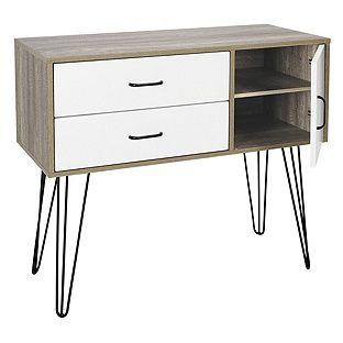Buy Hygena Ivy 2 Drawer Small Sideboard On Wire Legs At Argoscouk