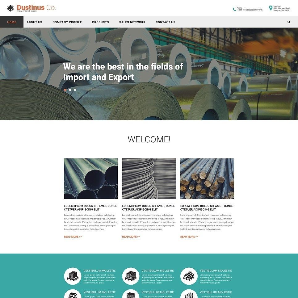 Click here to go to the company website - It S Our Little Secret Industrial Responsive Website Template Click Here Http Cattemplate