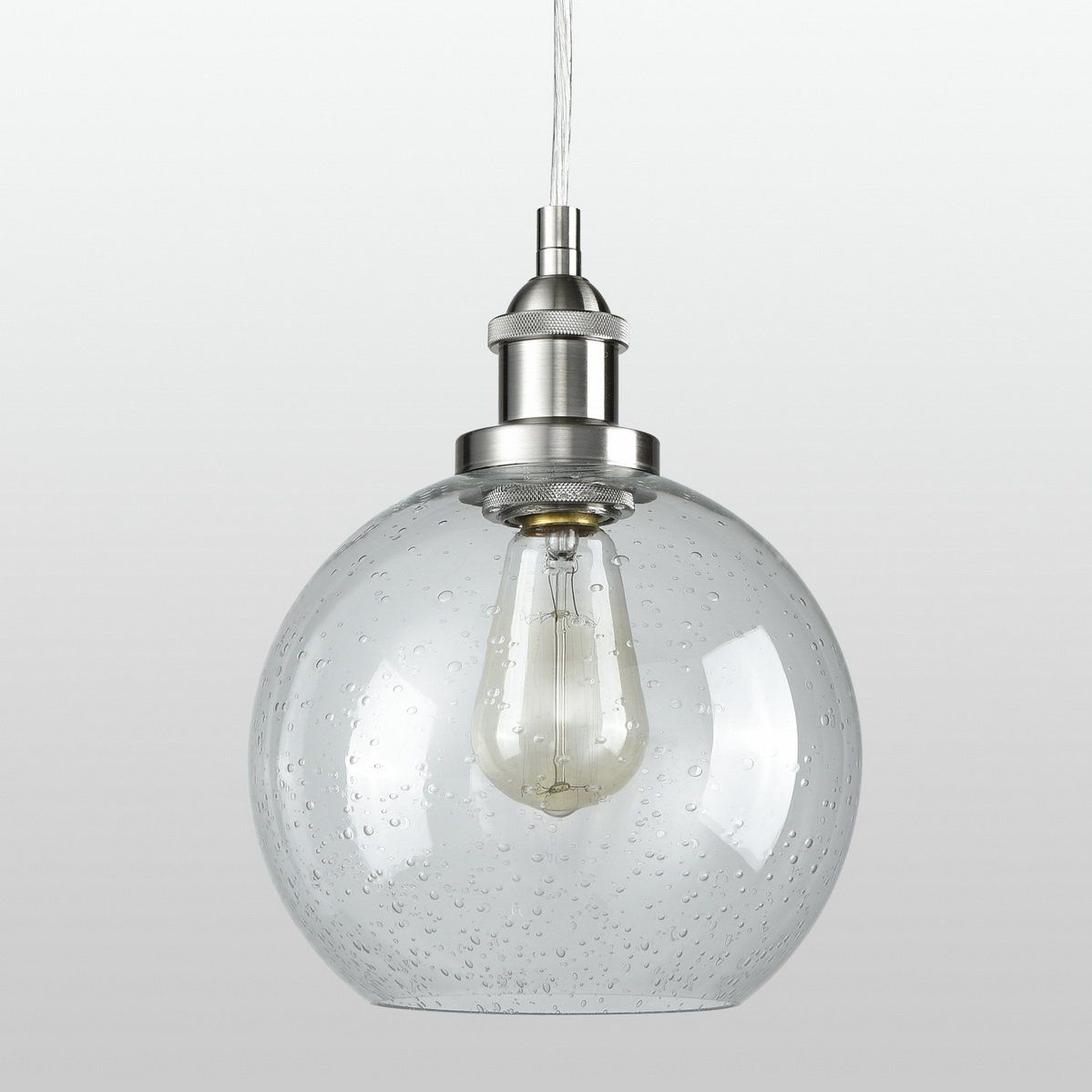 Dazhuan Contemporary Ceiling Light Seeded Glass Pendant Light