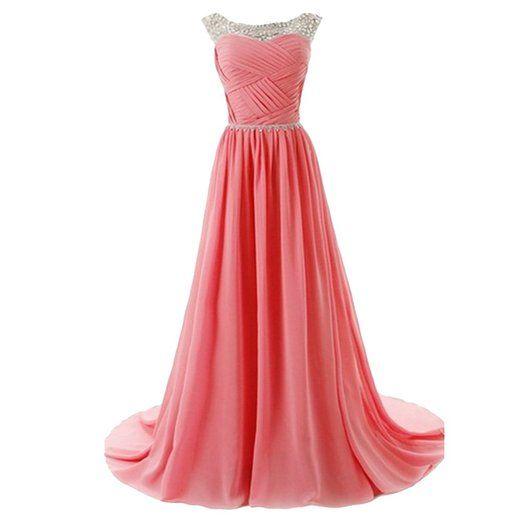 Wunderschönes rosa Kleid für den Abschlussball=) Es ist lang und in ...
