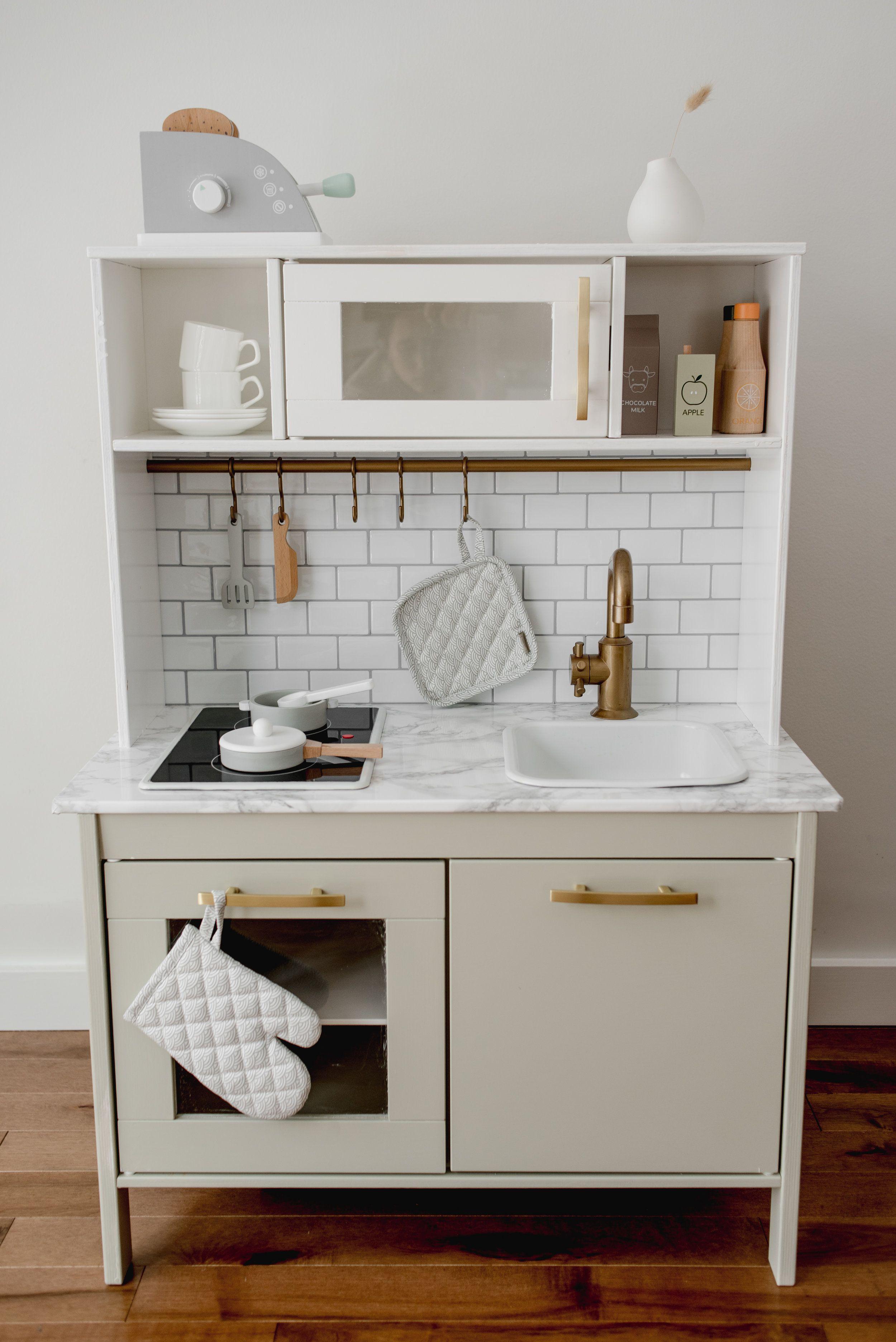 Scandinavian Modern IKEA Play Kitchen Hack Ikea play