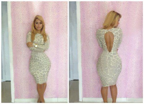 Sexy Women Open Back Bodycon Dress White Fabric Print Evening Cocktail Dress (L) Finejo http://www.amazon.com/dp/B00JC9W9UE/ref=cm_sw_r_pi_dp_JLNTtb02GP442GCT
