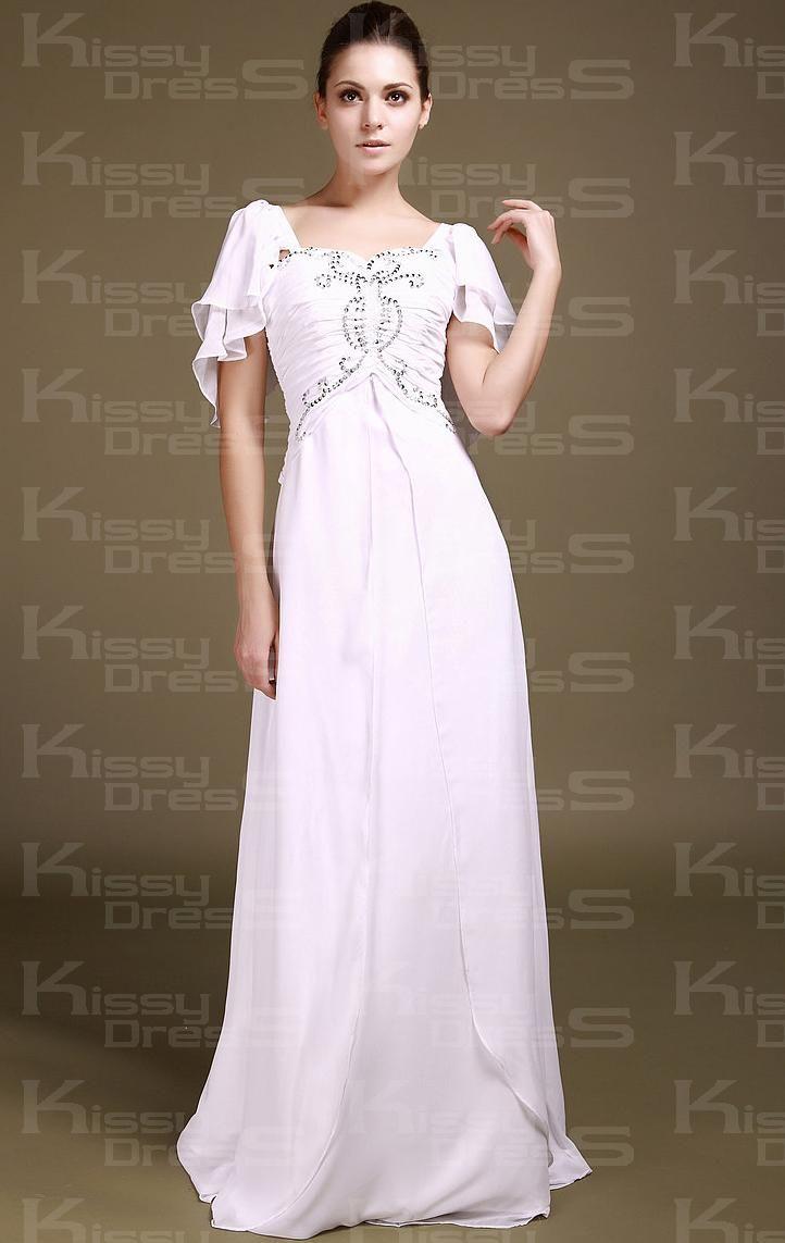 Images of Short Sleeve Formal Dresses - Reikian