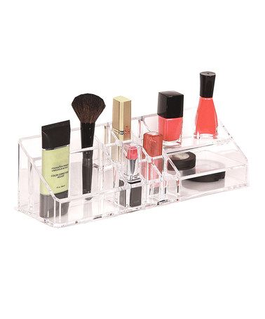 Another great find on #zulily! Clear 15-Compartment Cosmetic Organizer #zulilyfinds - $9 !