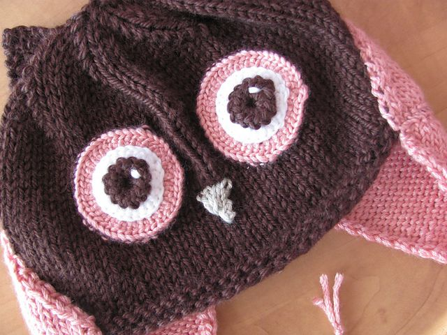 Owl Hat How Cute Is This And The Pattern Is Free Knitting