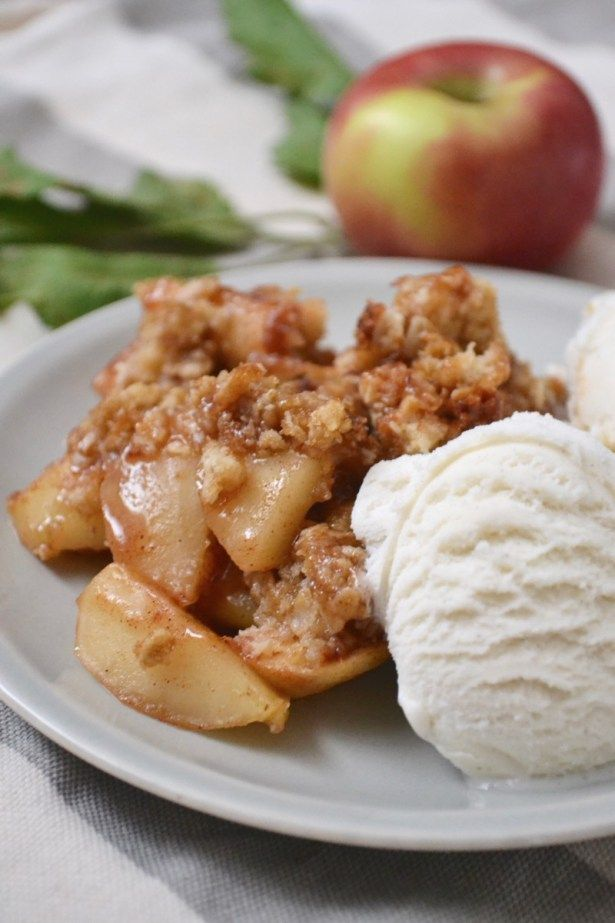 Perfectly Crumbly Apple Crisp #applecrisp