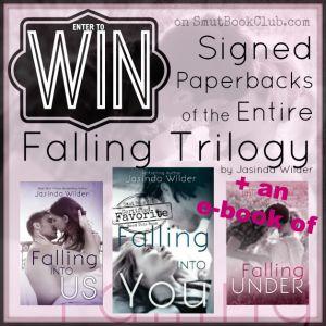 Falling Trilogy Signed Paperbacks Giveaway http://smutbookclub.com/books/falling-under-jasinda-wilder/