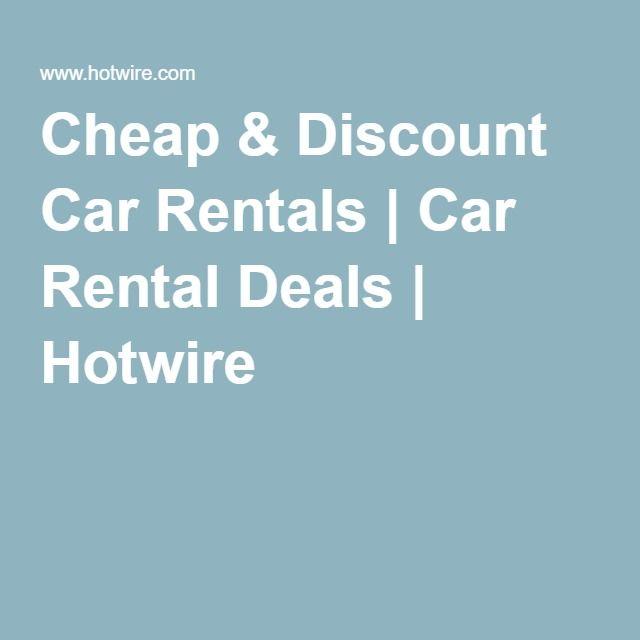Cheap & Discount Car Rentals | Car Rental Deals | Hotwire | Travel ...