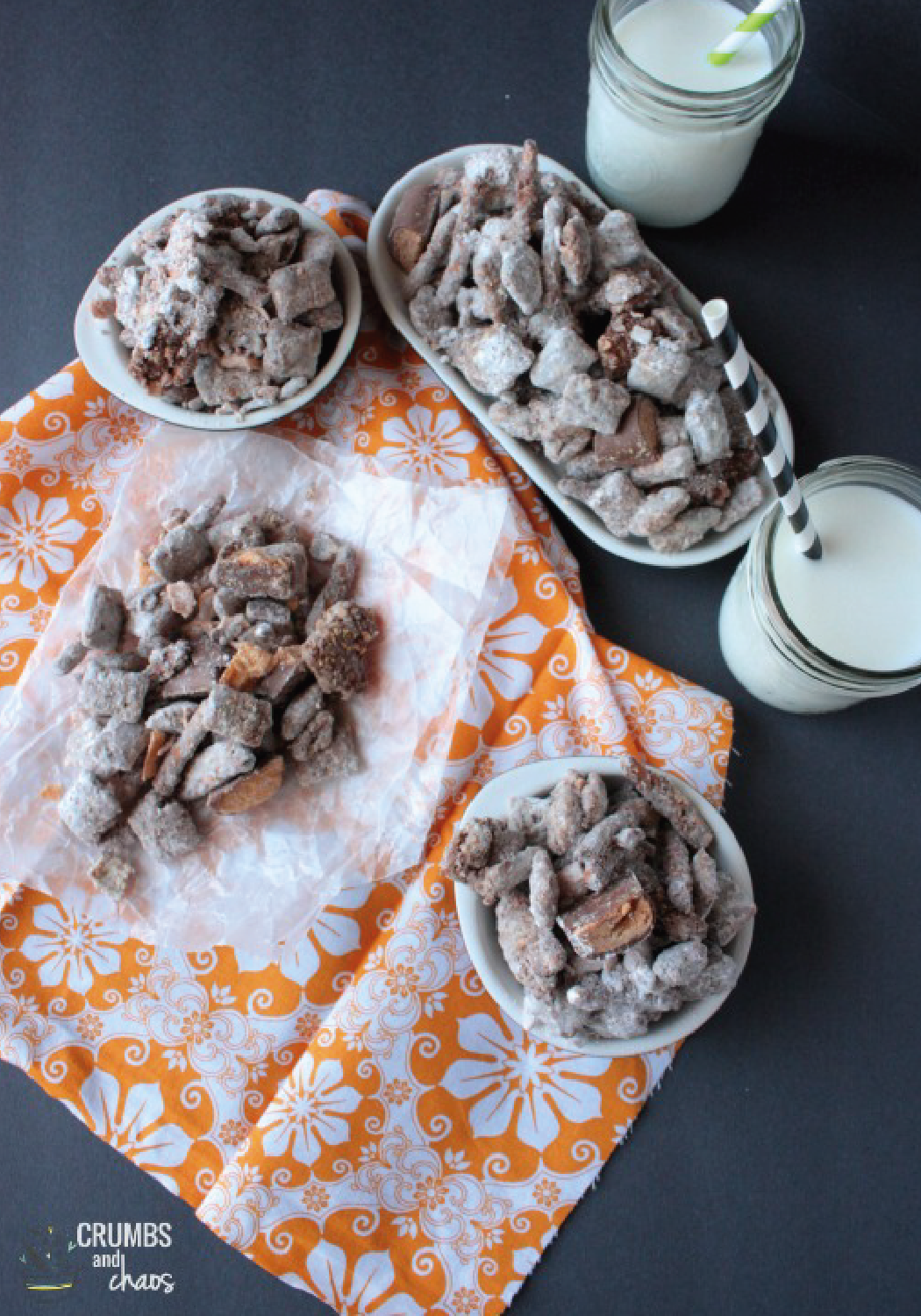 Having friends over for a casual get-together and wanting to offer them a sweet treat that they can't resist? Butterfinger Muddy Buddies make a great snack to serve to your guests. Made with Mini BUTTERFINGER® candy bars, this recipe is full of crispety, crunchety, peanut-buttery goodness.