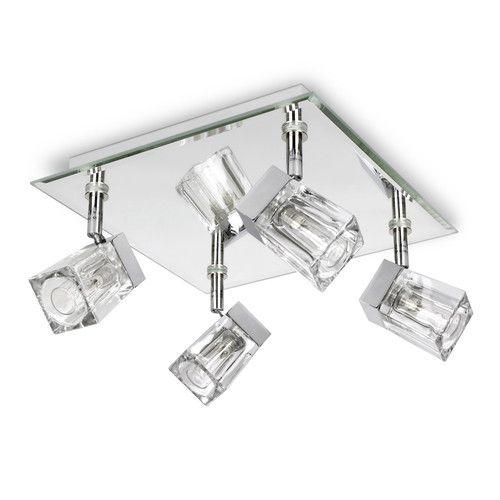 Modern chrome ice cube 4 way bathroom ceiling light spotlight