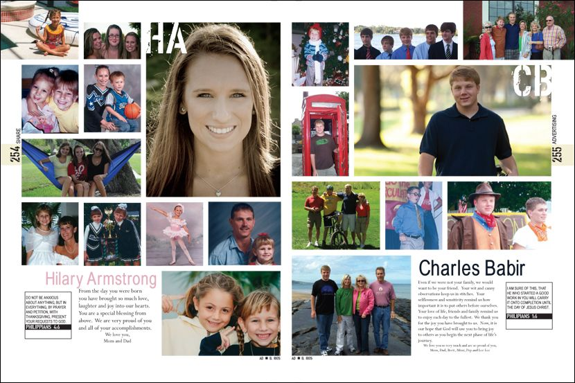 Senior Pages from William R. Boone High School yearbook pages 254 ...