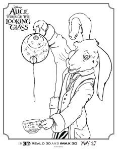 Alice Through The Looking Glass Coloring Sheets From The New Live