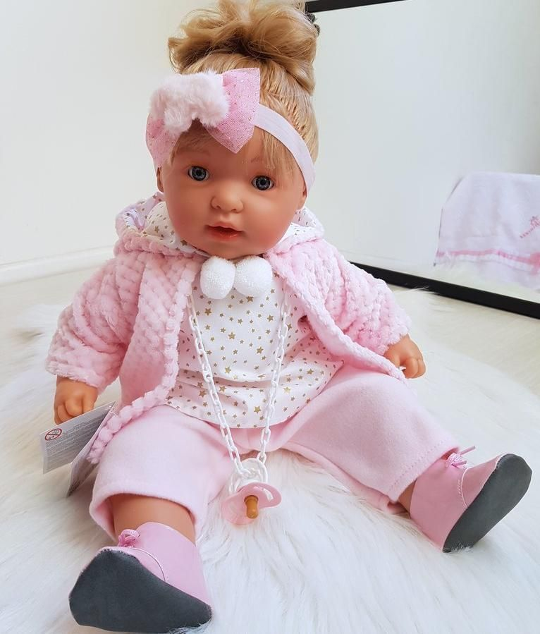 D'Nines Spanish Doll - Claudia #spanishdolls Our super cute Spanish Doll - Claudia - is looking for her forever home. At 55cm tall, she is the perfect keepsake. She needs someone who looks after her as she even cries when her dummy is taken out...just like a real baby! Batteries included. #spanishdolls D'Nines Spanish Doll - Claudia #spanishdolls Our super cute Spanish Doll - Claudia - is looking for her forever home. At 55cm tall, she is the perfect keepsake. She needs someone who looks after #spanishdolls