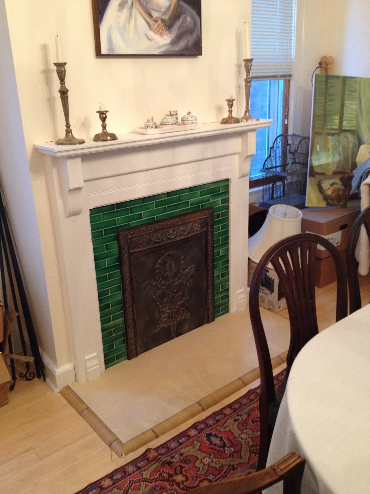 Cast Iron Fireplace Summer Cover
