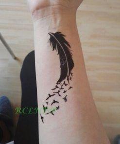 Waterproof Temporary Tattoo Sticker mandala henna bird feather body art tatto flash tatoo fake tattoos for girl women men 4