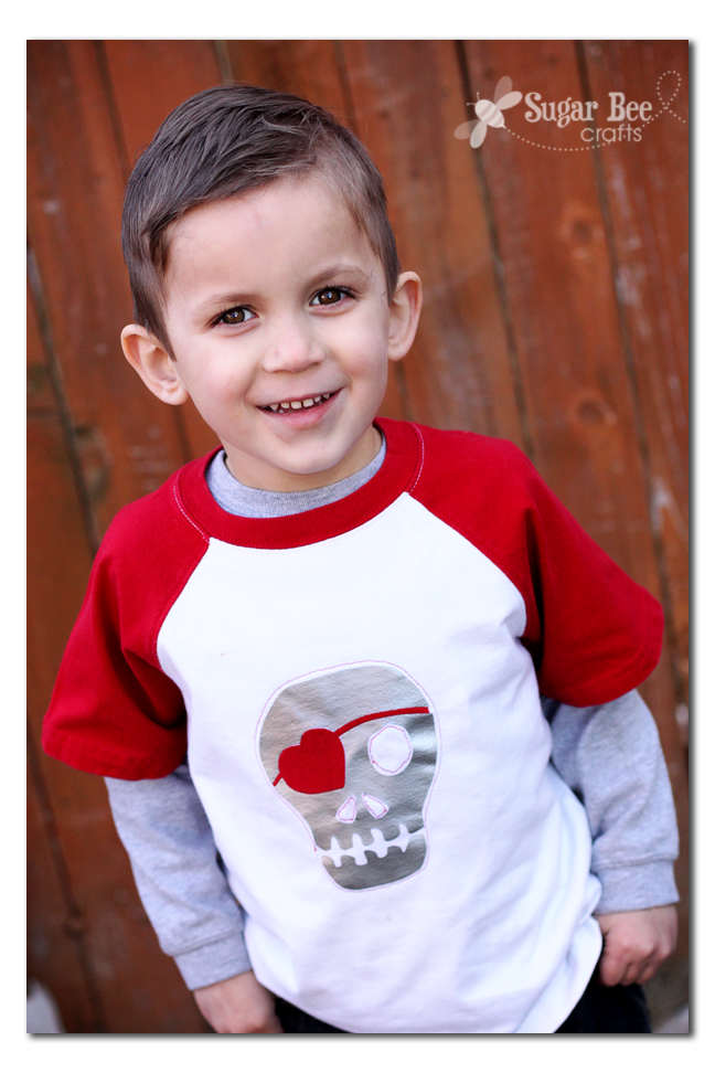 boys skull heart valentine shirt