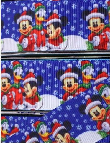 7/8 Inch Christmas Minnie / Mickey Mouse by EmbellishMyWorld