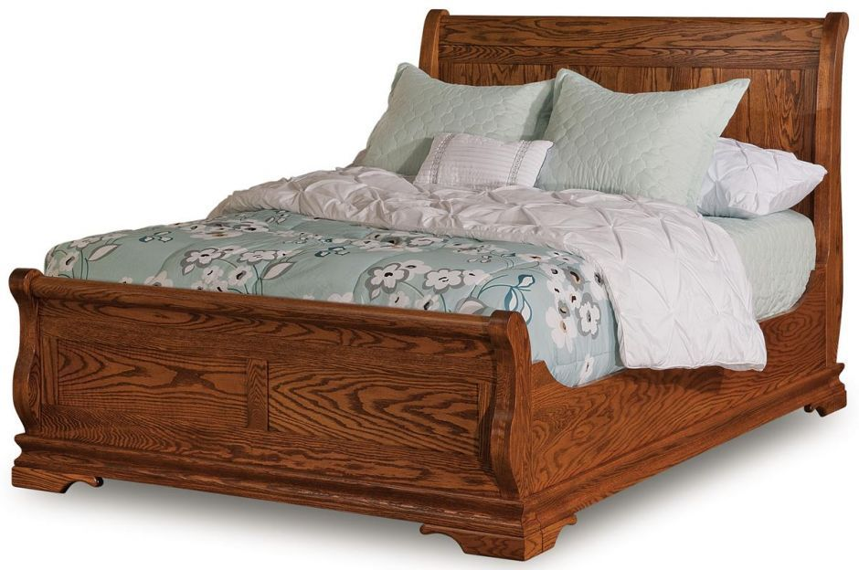 Milwaukee Queen Sleigh Bed With Images Amish Furniture Amish Furniture Bedroom Rustic Bedroom Furniture