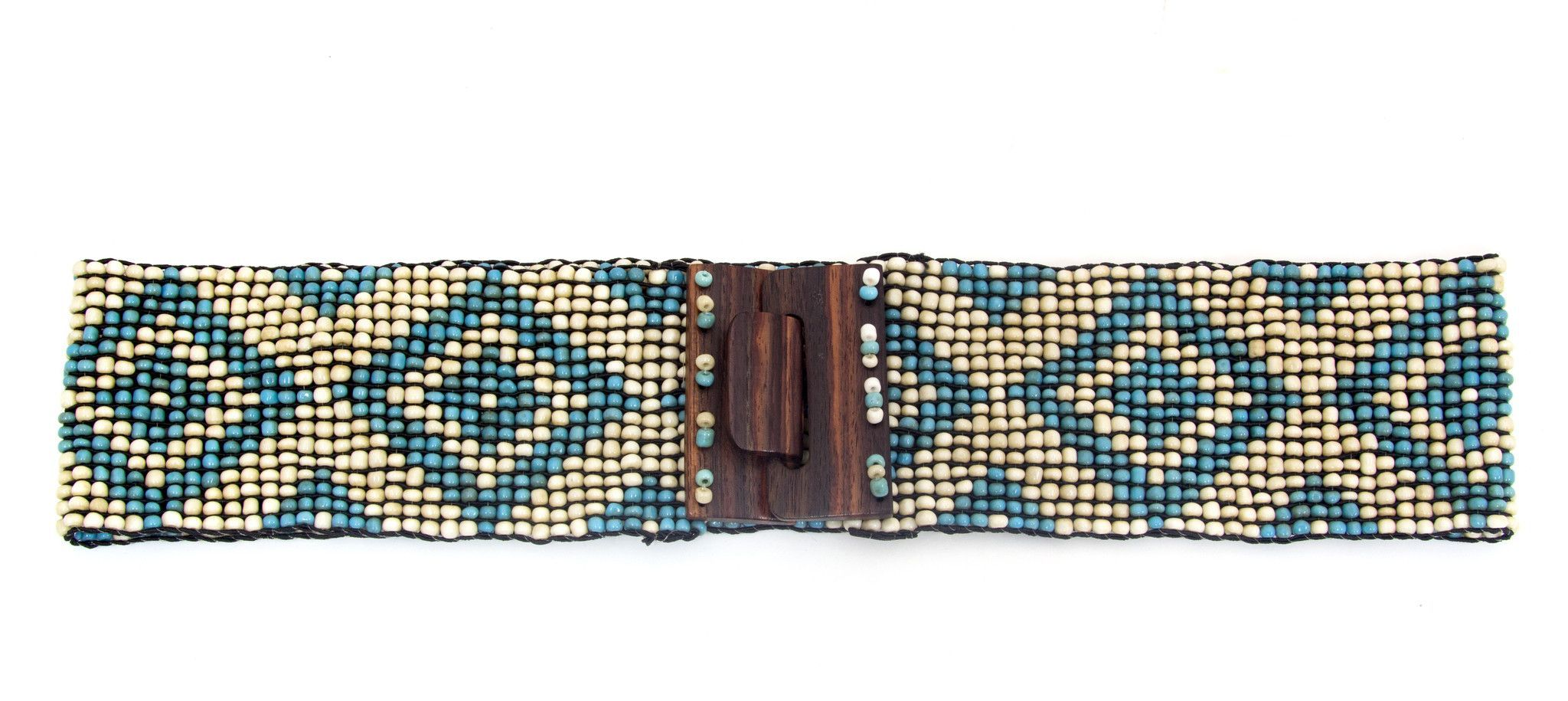 Geo Pattern Stretch Beaded Belts