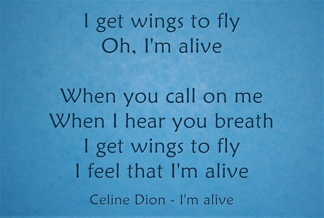 I Get Wings To Fly Oh I M Alive When You Call On Me When I Hear You Breath I Get Wings To Fly I Feel That I M Alive Meaningful Lyrics Feelings