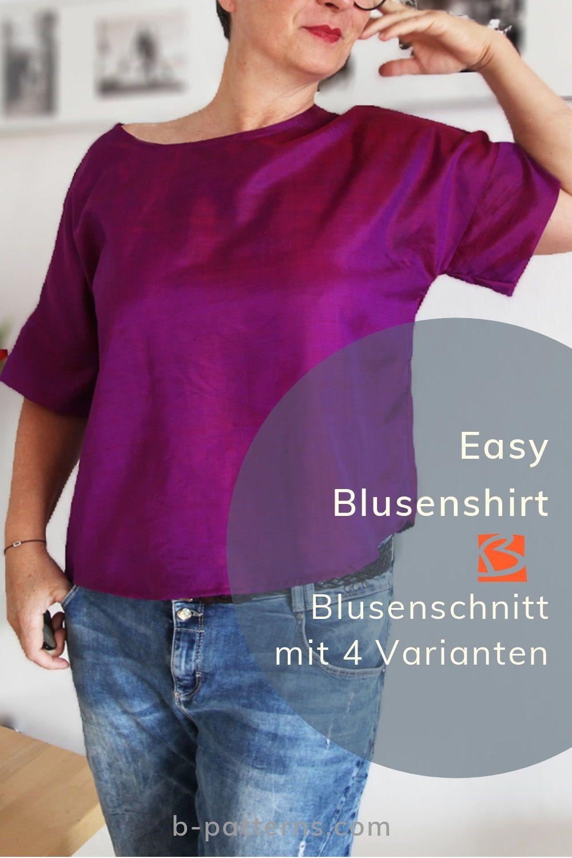 Bluse Vanda ist ein variantenreichen Basicschnittmuster. Aus 1 mach 4.  Schritt für Schritt folgst Du der bebilderten Nähanleitung und nähst Dir ei…