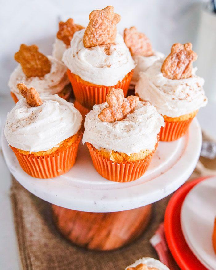 Vegan Pumpkin Cupcakes with Pumpkin Spice Frosting   The Edgy Veg