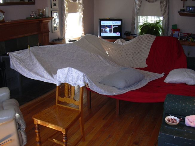 I miss my old house. AKA the fort I build in my parents living room ...