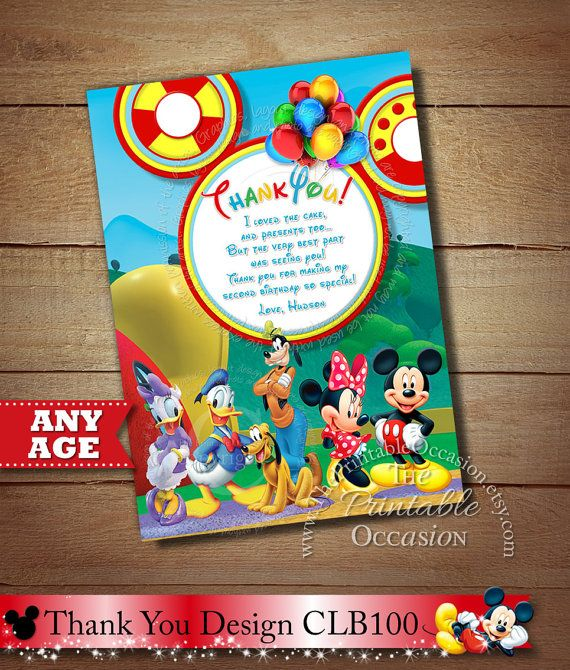 Editable Mickey Mouse Thank You Templates Printable Chalkboard Thank You Cards Mickey Mouse Thank You Note Instant Download Corjl Digital Mickey Mouse Birthday Invitations Mickey Mouse Birthday Minnie Mouse Invitations