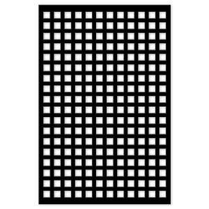 Acurio Latticeworks Square 32 In X 4 Ft Black Vinyl Decorative Screen Panel 3248pvcbk Sqr Decorative Screen Panels Plastic Lattice Decorative Screens