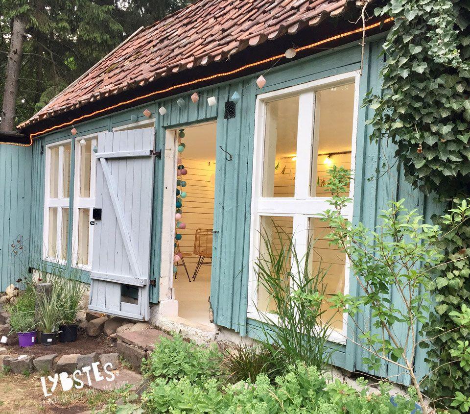 Lybstes Haus Gartenhaus Renovieren In Mint Und Grau Hauskauf2018 Interiordesign Holzhutte Garten Gartengestaltung Garten