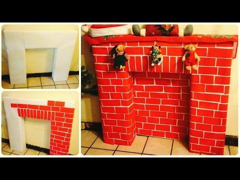 Diy chimenea navide a milinchristmas youtube natale - Hacer chimenea decorativa ...
