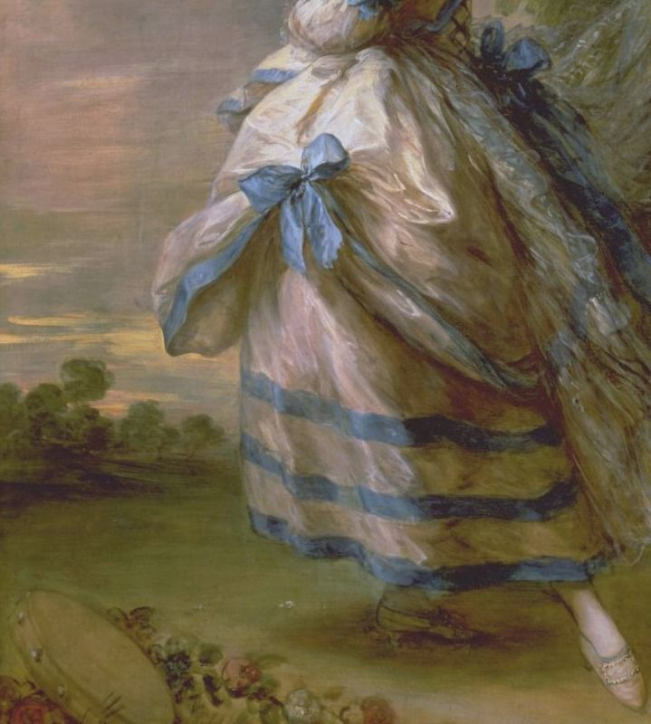 Portrait of Giovanna Baccelli (detail), by Thomas Gainsborough (English, 1727-1788).