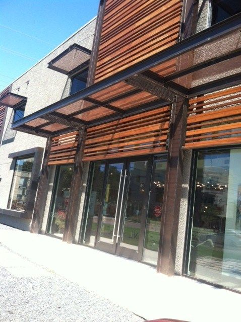 Modern Awning Ideas | Metal awning, House cladding ...