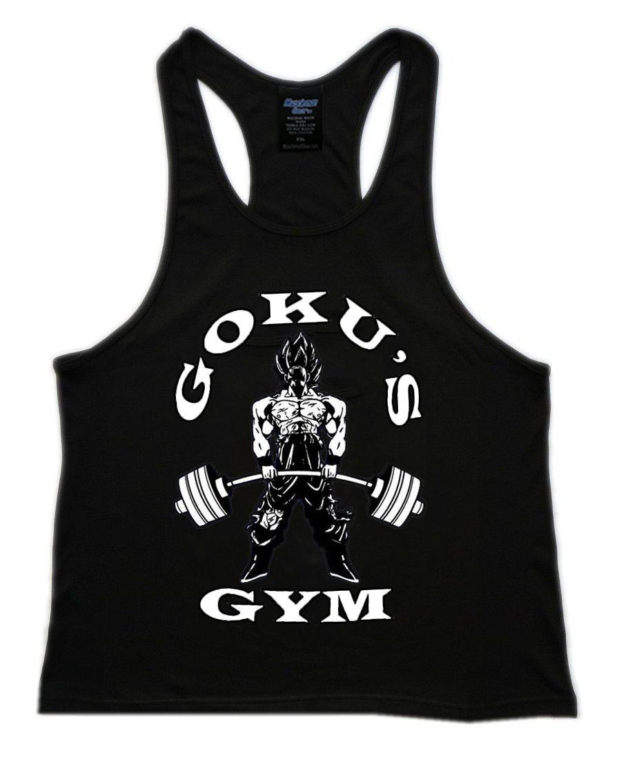 f6577a39930a4 Muscleman Gear Goku Gym Men s Stringer Tank Tops..