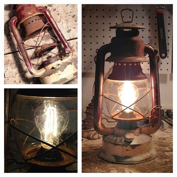 We Recently Converted This Rusted Looking Gas Lantern Into An Electric Plug In Lamp Looks Great O Ceiling Lights Diy Diy Lantern Lights Lantern Ceiling Lights