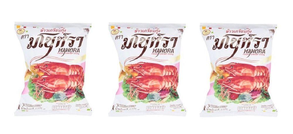 Manora shrimp chips original 85gpack of 3 product of